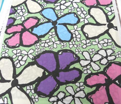 Flower Grafitti Colour 1