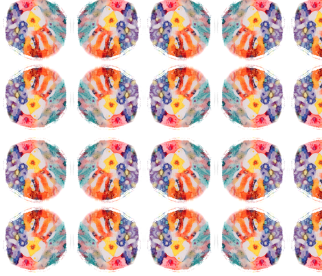 Reiki Hand Circle - large fabric by walkwithmagistudio on Spoonflower - custom fabric
