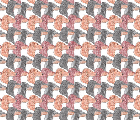 Dachshund faces  fabric by rusticcorgi on Spoonflower - custom fabric