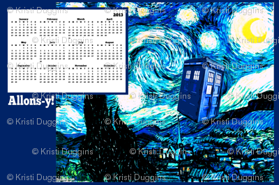 Doctor Who Inspired 2013 Tea Towel Wall Calendar