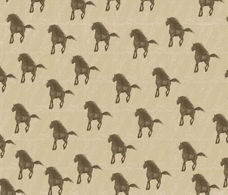 Horses fabric by peacefuldreams on Spoonflower - custom fabric