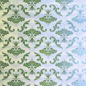 Green and Blue Damask