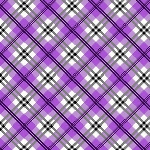 Lavendar diagonal plaid