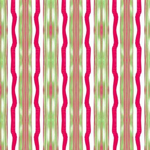 Three Flaxen Stripes, Candycane colors