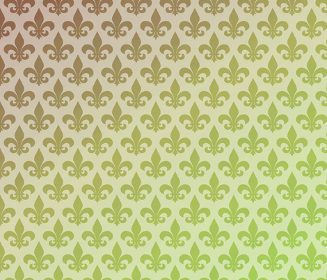 Fleur de lis Gradient fabric by pencreations on Spoonflower - custom fabric