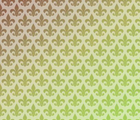 Fleur de lis Gradient fabric by peacefuldreams on Spoonflower - custom fabric