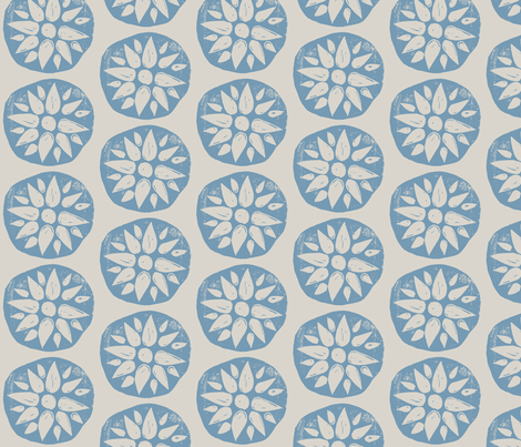 Hand-carved Flowers  fabric by owlandchickadee on Spoonflower - custom fabric