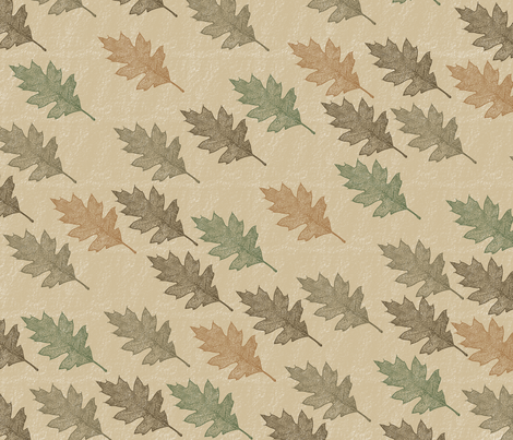 Autumn Leaves fabric by peacefuldreams on Spoonflower - custom fabric