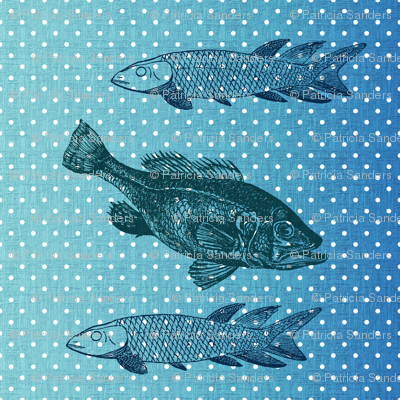 Blue Fish Polka Dots
