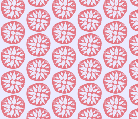 Flower Stamps fabric by owlandchickadee on Spoonflower - custom fabric