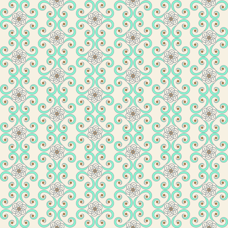 Dimpled Swirls in Aqua Blue fabric by fridabarlow on Spoonflower - custom fabric