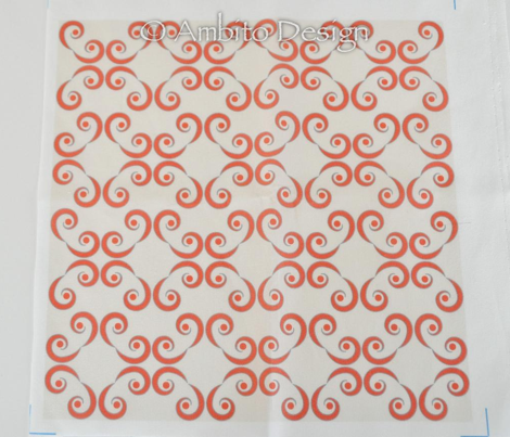 Dotted Swirls in Red-Orange