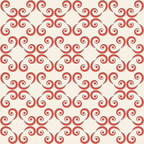 Dotted Swirls in Red-Orange fabric by fridabarlow on Spoonflower - custom fabric