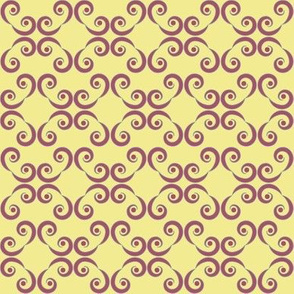 Dotted Swirls in Purple or Violet