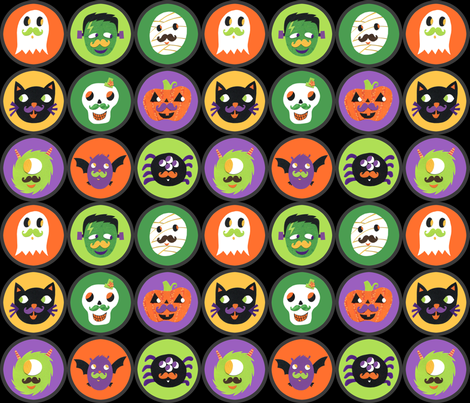 Halloweeny Friends Incognito fabric by super_hoot on Spoonflower - custom fabric