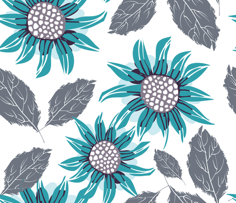 Helian blue| F251012 fabric by njeridesigns on Spoonflower - custom fabric
