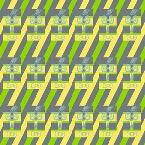 Woofle Birds on Sliding Down Stripes