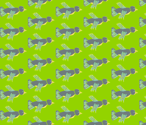 bird fabric by synamin on Spoonflower - custom fabric