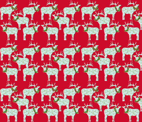 Christmas Reindeer fabric by karenharveycox on Spoonflower - custom fabric