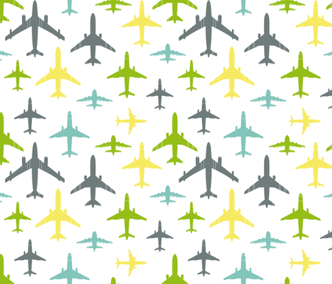Full flight over white fabric by sinelinea on Spoonflower - custom fabric