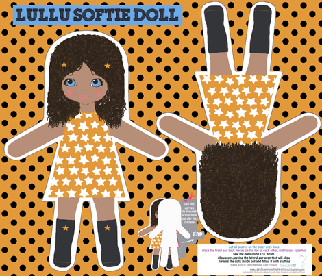 LULU softie doll fabric by katarina on Spoonflower - custom fabric