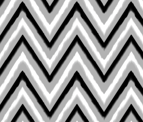 Black & Grey Chevron 2 fabric by fable_design on Spoonflower - custom fabric