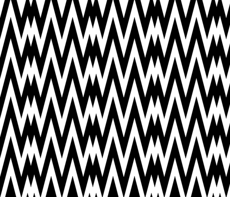 Black and White Chevron II. fabric by pond_ripple on Spoonflower - custom fabric
