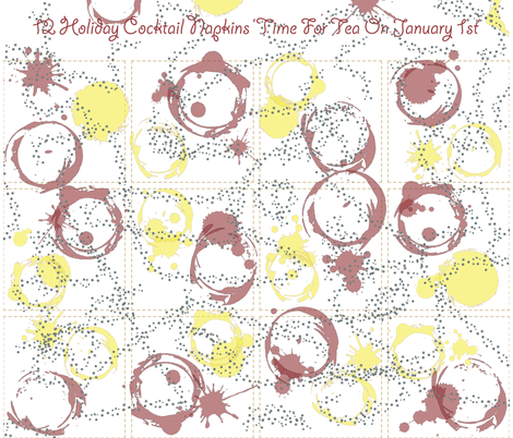 12 Christmas New Year Cocktail Napkins fabric by tscho on Spoonflower - custom fabric