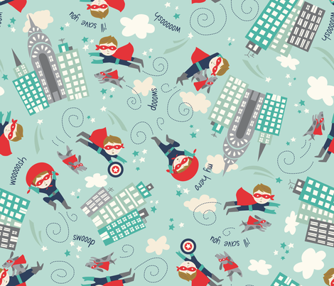 my_hero_2 fabric by stacyiesthsu on Spoonflower - custom fabric