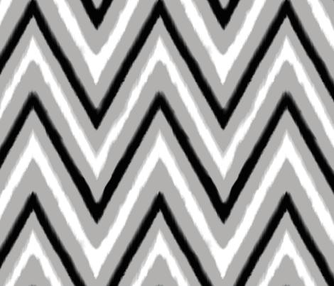 Black & Grey Chevron 3 fabric by fable_design on Spoonflower - custom fabric