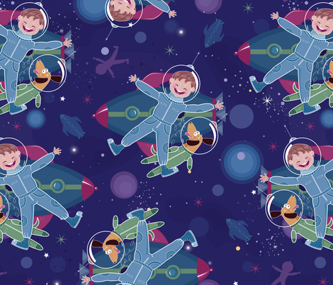 Space Heroes fabric by oksancia on Spoonflower - custom fabric