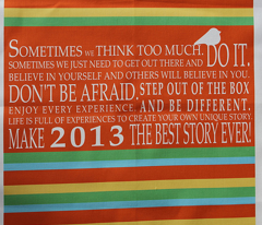 Inspiring words - Stripes