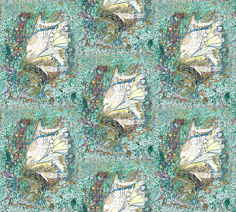 Be_My_Hero_Majesty_Cicada fabric by skitzykit on Spoonflower - custom fabric