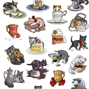 Kitten Tea Party Full Tea Party Set