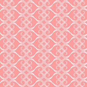 Mehndi Heart: Pink Coral