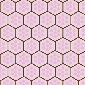 Honeycomb and Cluster Dots Pink
