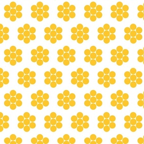 Dot Flowers Gold