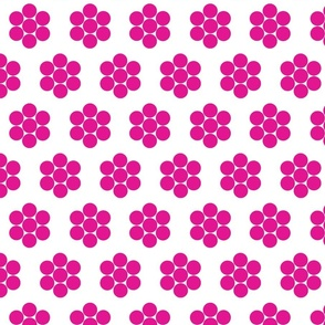 Dot Flowers Fuchsia