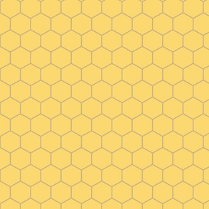 Honeycomb Khaki on Butter Yellow