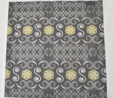 Tribal Banner in Charcoal Gray
