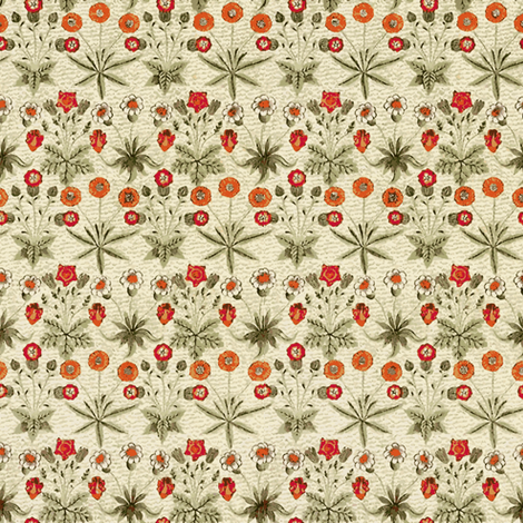 Dandelions and Chamomile fabric by flyingfish on Spoonflower - custom fabric