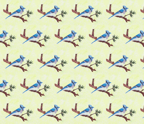 Blue Jay fabric by pmegio on Spoonflower - custom fabric