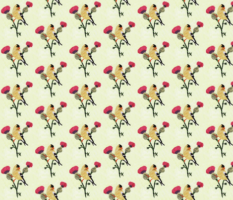 Gold Finch  fabric by pmegio on Spoonflower - custom fabric