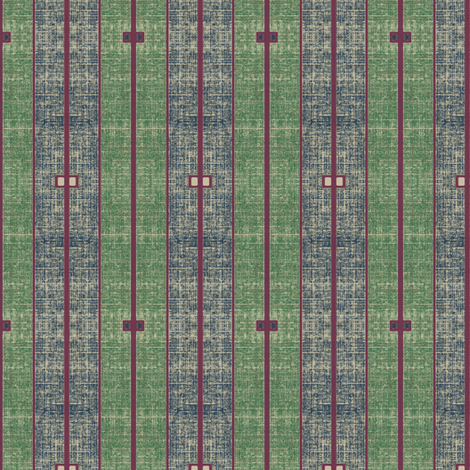 Ode to Deco - stone washed green, blue and plum stripes fabric by materialsgirl on Spoonflower - custom fabric
