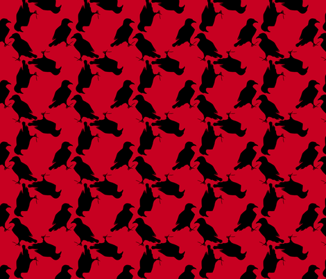 raven-red and black fabric by trollop on Spoonflower - custom fabric