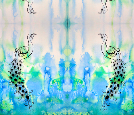 Peacock fabric by cmcreations on Spoonflower - custom fabric
