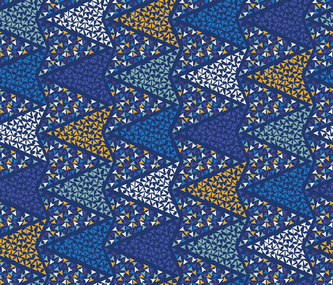COLOURFUL_ARROWS_blu fabric by leitmotifs on Spoonflower - custom fabric