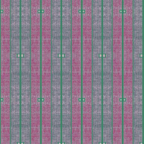 Ode to Deco - stonewashed plum, magenta and green stripe fabric by materialsgirl on Spoonflower - custom fabric