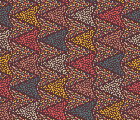 COLOURFUL_ARROWS_brown fabric by leitmotifs on Spoonflower - custom fabric