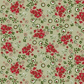 ditsy  flora / vintage christmas
